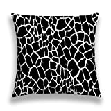 Tyuyui Pillow Cases Black White Animal Skin Texture Giraffe Repeating Seamless Pattern Cow Dalmatians Dog Wallpaper Background Camouflage Vector Grey tempurpedic