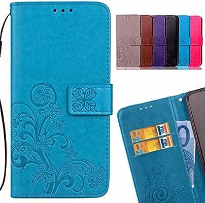 LEMORRY Funda para Xiaomi Mi A2 Estuches Cuero Flip Cover Billetera Piel Protector Magnética TPU Silicona con Tarjetas Ranura Carcasa Tapa para Xiaomi ...