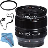 Fujifilm XF 14mm f/2.8 R Ultra Wide-Angle 16276481 + 58mm UV Filter + Fibercloth + Lens Capkeeper Bundle