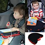 Trabasack Curve Connect - Car Seat Tray and Buggy Play Tray for Kids - Red Trim