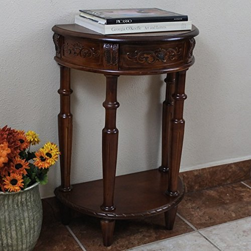 Modern Traditional Classical Decor Indoor Half-moon Two-tier Wall Table