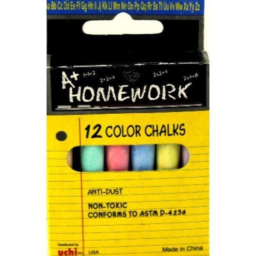 12 Color Chalks, Case of 48