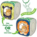 Kitty City Safari Play Cubee, Cat Cube, Play Kennel, Cat Bed, Jungle Cat House