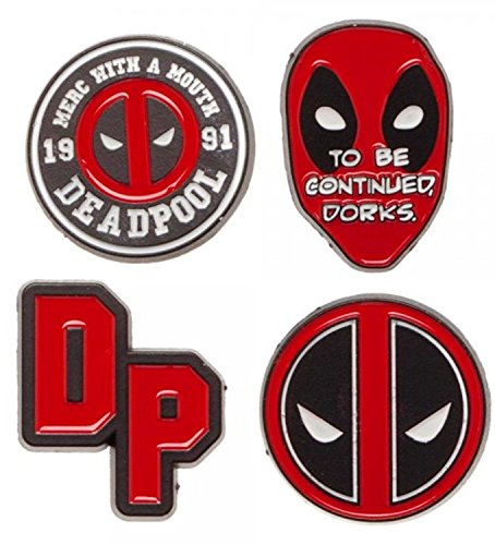 Deadpool - 4-Piece Enamel Pin - Deadpool Pin