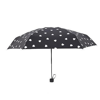 Paraguas que cambia de color, paraguas compacto de 3 pliegues / 5 pliegues, compacto