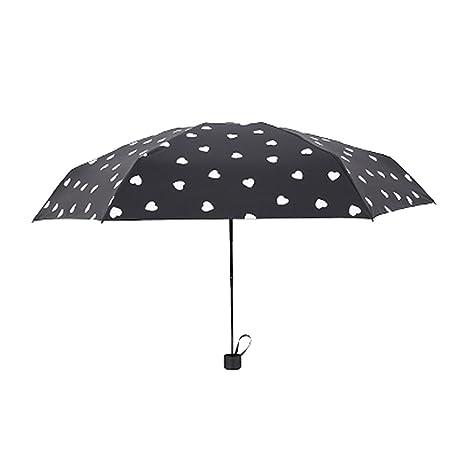 Paraguas que cambia de color, paraguas compacto de 3 pliegues / 5 ...
