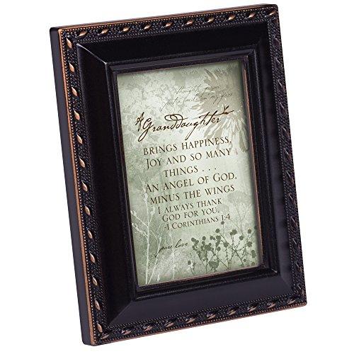 Cottage Garden Granddaughter Brings Happin Black Rope Trim Tiny Frame with Magnet and - Magnet Frame Floral