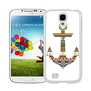 New Style View Window Design Smart Cover For Samsung Galaxy S4 i9500 Anchor Aztec Watercolor Samsung Galaxy S4 i9500 Case White Cover