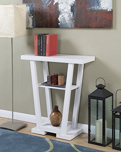 Convenience Concepts Newport Console Table, White by Convenience Concepts