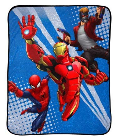 Marvel Avengers Heroes Kids Throw Blanket ()