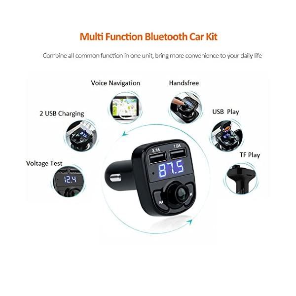 FM Transmitter Bluetooth Car Kit USB Car Charger