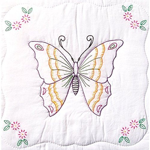 Jack Butterfly Garden (Stamped White Quilt Blocks 18X18 6/Pkg-Butterfly by Jack Dempsey)