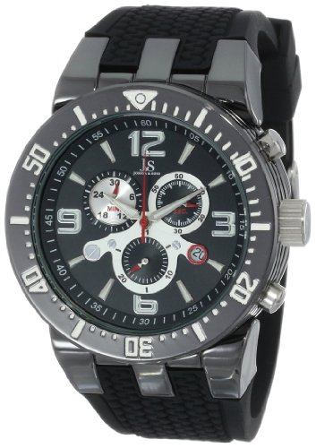 Joshua & Sons Men's JS55BK Swiss Chronograph Black Sport Strap Watch