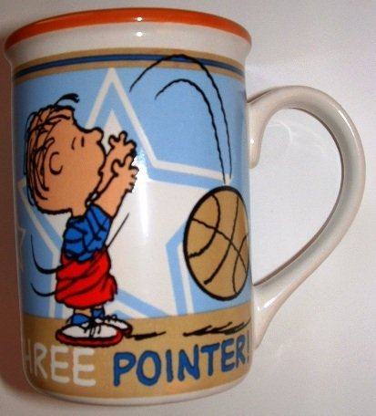 Officially licensed Gibson Stoneware Peanuts Linus Basketball Three Pointer Ceramic Coffee Mug by Peanuts accessories ()