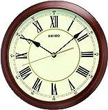 Seiko Wall Clock (28.2 cm x 28.2 cm x 4 cm, Brown,QXA597AN)