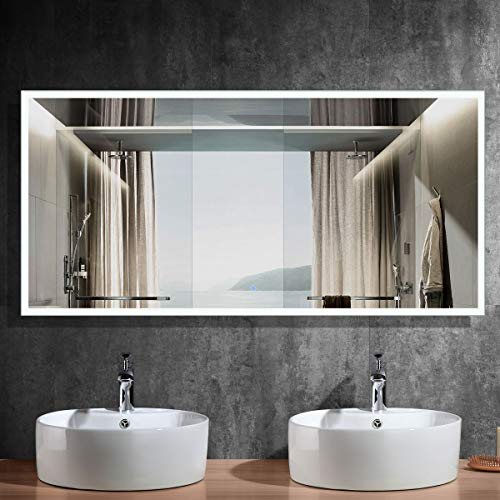 DECORAPORT 84 Inch * 40 Inch Horizontal LED Wall Mounted Lighted Vanity -