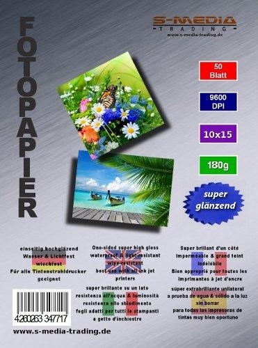600 hojas 10x15 cm papel de foto 180g súper extrabrilliante ...