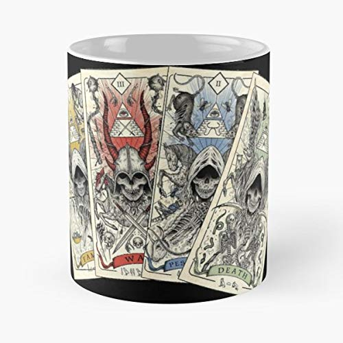 Four Horsemen Apocalypse Creepy Ceramic Coffee Mugs 11 Oz - Funny Best Gift (X Men Four Horsemen Of The Apocalypse)