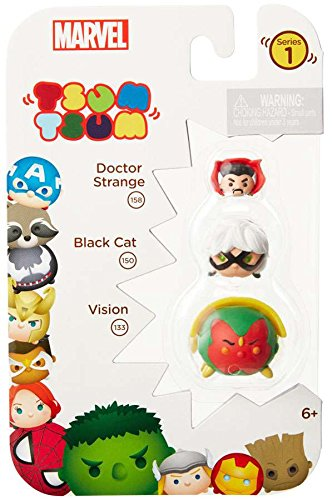 Tsum Tsum Marvel 3-Pack: Vision/Black Cat/Dr. Strange Toy (Strange Cat)