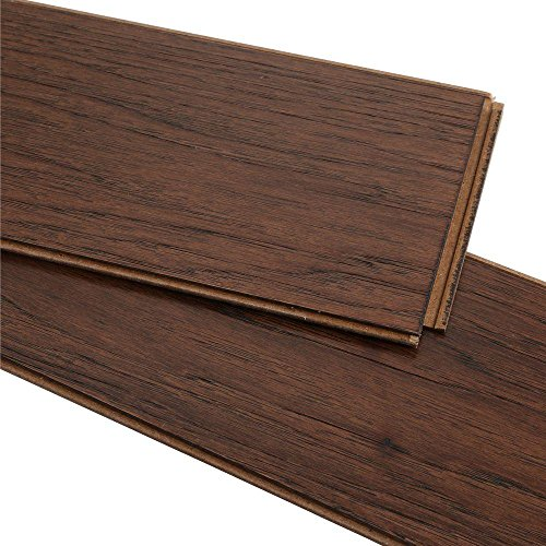 Legend Hardwood Flooring (Wire Brushed Benson Hickory 3/8 in. x 5 in. Wide x 47-1/4 in. Length Click Lock Hardwood Flooring (19.686 sq. ft. /case))