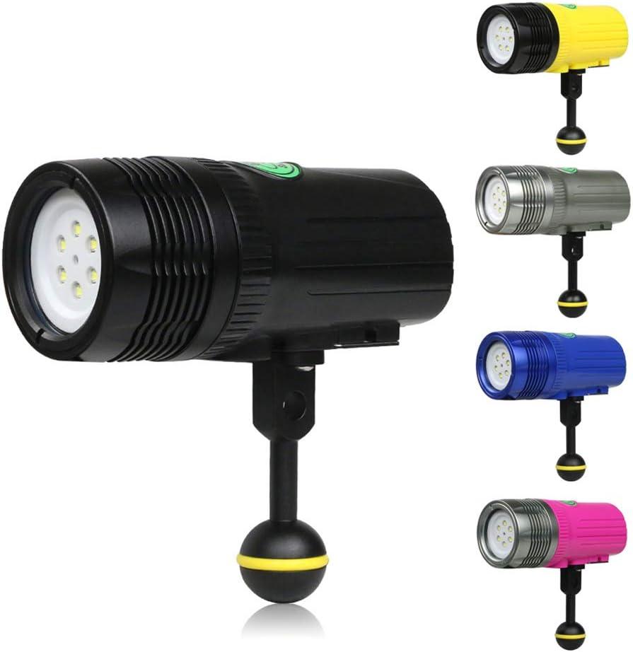 YTBLF Diving Photography Light Underwater 100M Photography Fill Light Waterproof Flashlight Drop-Proof Lighting LED Light 2500LM