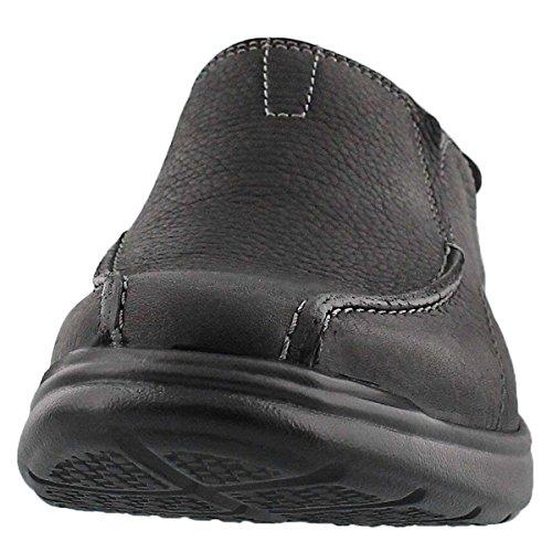Clarks Mens Cotrell Stap Slip Op Casual Loafer - Breed Zwart