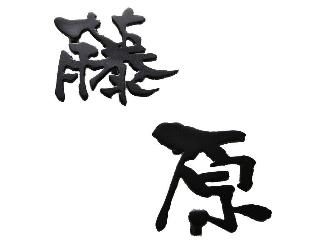 表札 ステンレス ステンレスレーザーカット表札 「漢字タイプ」S100(一文字分) おしゃれ 玄関 戸建 B01LXAFCRC 16200