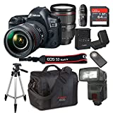 Canon EOS 5D Mark IV With 24-105mm f/4 L IS II USM Lens Kit Bundle + 64GB High Speed Memory Card + Canon 300DG Deluxe Camera Bag + Wireless Remote Shutter + Tripod + More