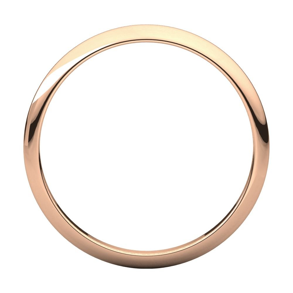 Bonyak Jewelry 10k Rose Gold 2 mm Half Round Band Size 13.5