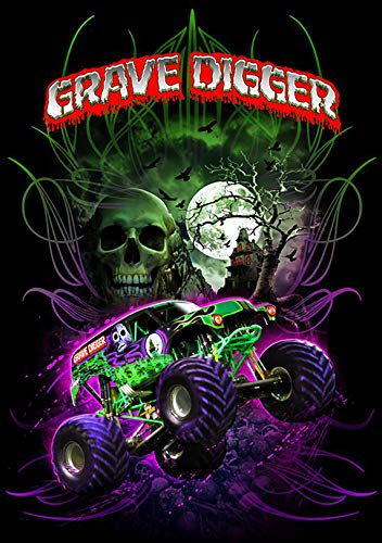 Monster Truck Jam Grave Digger Iron On Transfer for T-Shirts & Other Light Color Fabrics #2 Divine Bovinity (Monster High Iron On)