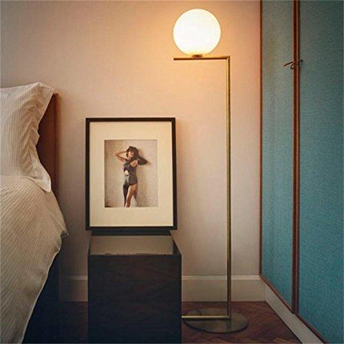 Moderne und Minimalistische Glaskugel Stehleuchte Persönlichkeit Schlafzimmer Wohnzimmer Schlafsofa Stehleuchte, weißen Licht Orb