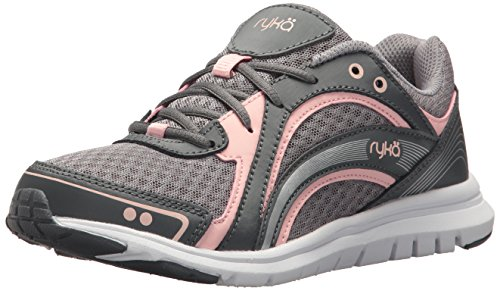 RYKA Women's Aries Walking Shoe, Grey/Rose, 10 M US