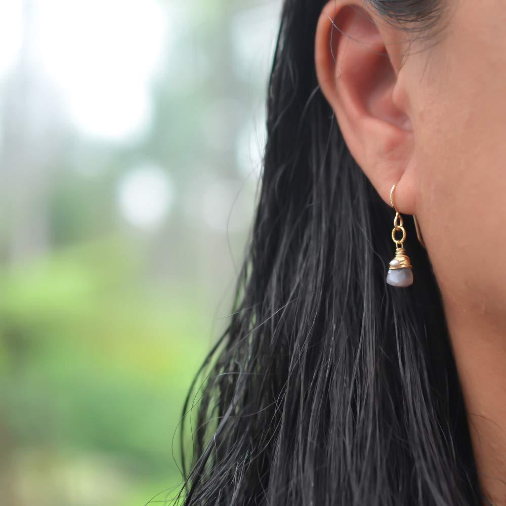 Brown Moonstone Earrings 14//20 Gold-filled