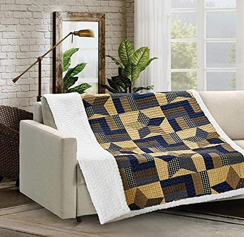 """50/"""" x 60/"""" Forest Pines Flannel Sherpa Throw ~ Virah Bella ~ Size"""