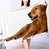 AmaPark Luxury Plush Bath Towel Dog High Absorbency L39.4 x W19.7 INCH