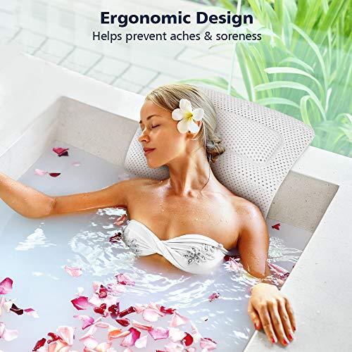 Amazon.com: PEMENOL - Almohada para bañera y bañera de ...