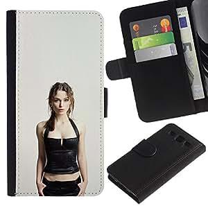 JackGot ( Keira Knightley ) Samsung Galaxy S3 III I9300 la tarjeta de Crédito Slots PU Funda de cuero Monedero caso cubierta de piel