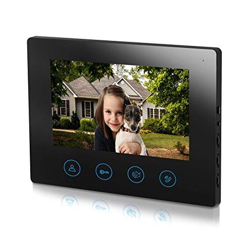 (7inch Monitor Only for Metecsmart 4-Core wired Video Doorbell Video Door Phone Intercom Kit (Monitor Black))