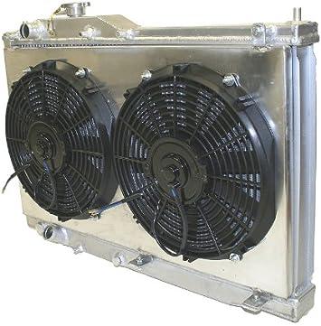 Aluminum Radiator For 2000-2009 Honda S2000 I4 2ROW Shroud /& Fans