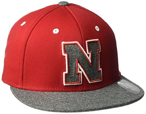 adidas NCAA Nebraska Cornhuskers Square Crown Flex Team Color, Large/X-Large, (Nebraska Team Color)