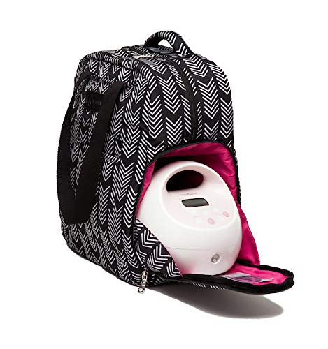 Sarah Wells Kelly Convertible Breast Pump Bag and Backpack (Black and White) by Sarah Wells (Image #3)