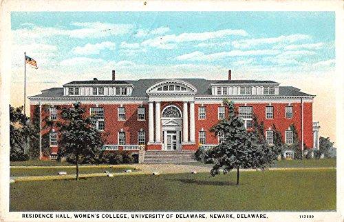 Newark Delaware University Womens College Residence Hall Antique Postcard J61196