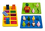 #5: Lucentee Silly Ice Cube Trays Candy Molds, Building Bricks and Figures with Bonus Ebook