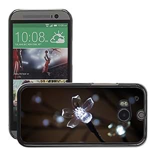 Super Stellar Slim PC Hard Case Cover Skin Armor Shell Protection // M00048665 aero macro flower night star // HTC ONE M8