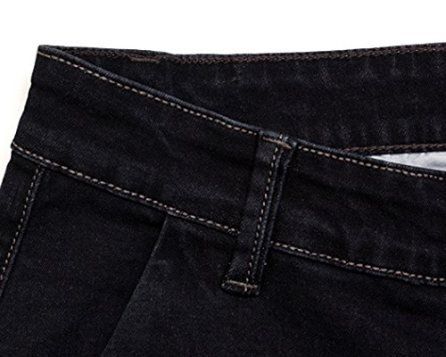 Uomo Elasticizzati Aspicture Elastico Straight Fit Jeans Uomini Slim Pantaloni Denim Casual qZSpqOxT