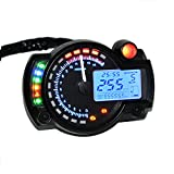 PACEWALKER 7COLOR 15000RPM Universal Motorcycle Digital LCD 299km/h MPH Speedometer Odometer Tachometer Gauge for 8-22 inch wheel