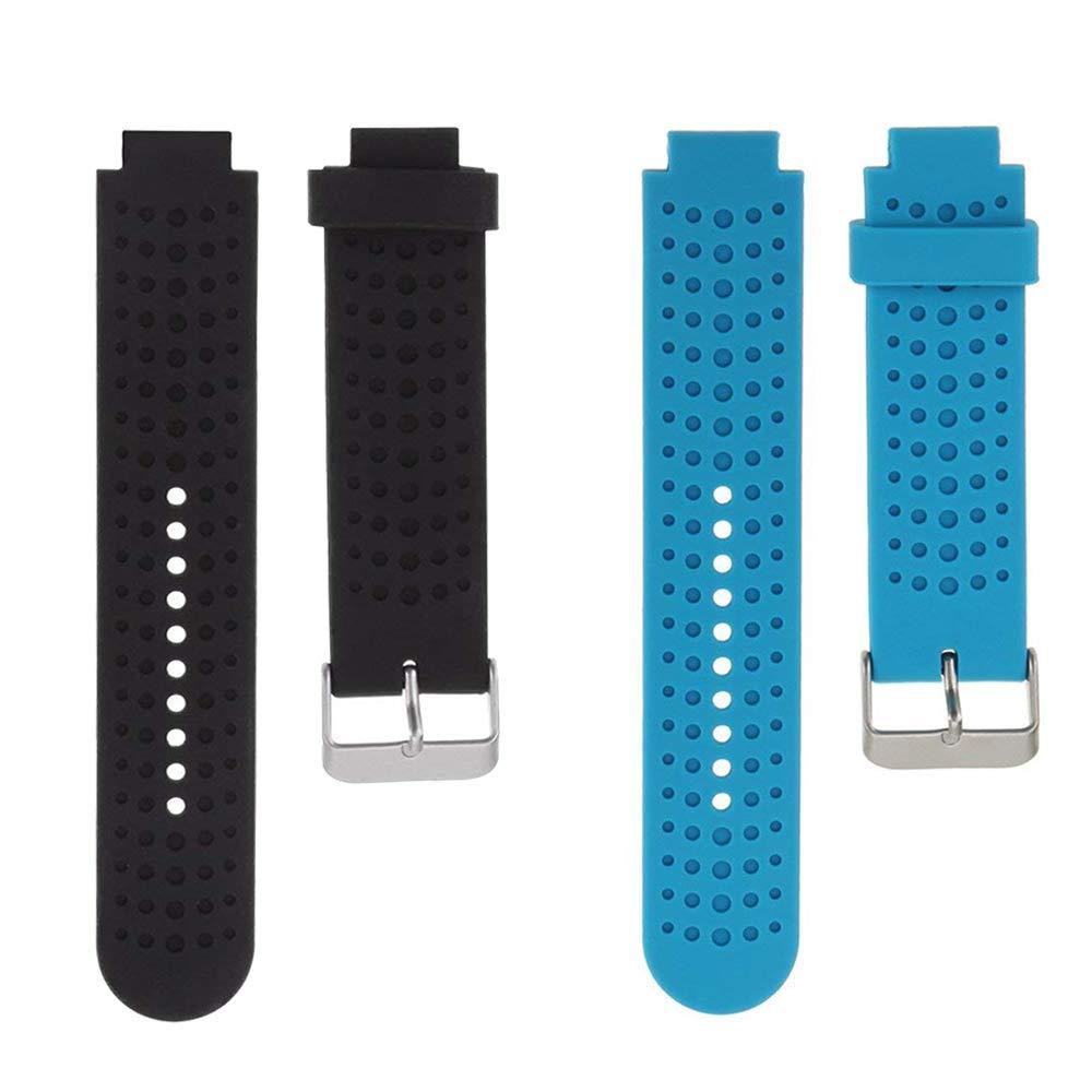Bexido Bracelet de Montre pour Garmin Forerunner 235, Silicone Bande de Remplacement Ré glable Sangle pour Garmin Forerunner 220/230/235/630/620/735 XT Montre GPS