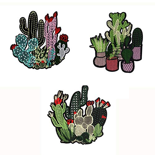 FineInno 3Packs Cactus Embroidery Patches Iron-on Patches for sale  Delivered anywhere in Canada
