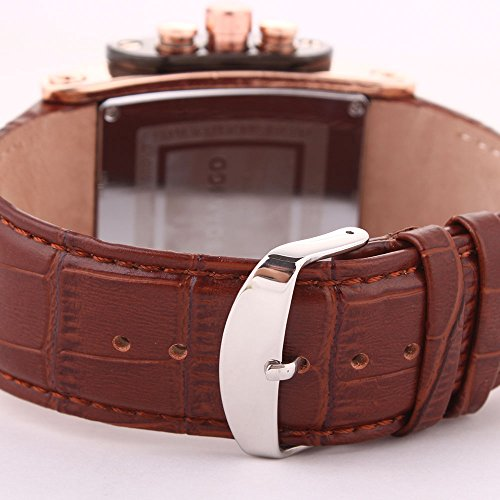 Amazon.com: Relojes de Hombre Cronógrafo De Cuarzo Reloj Men Moda para Caballero Caja de Acero Inoxidable 2019 Nueva Colección RE0084: Watches