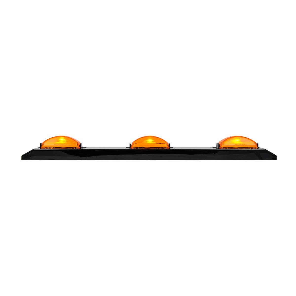GG Grand General 87096 Marker Light Black Plastic Id Bar with 3 Amber s